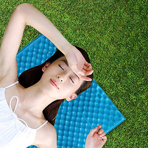 ENticerowts Tapis de couchage pliable et résistant à l'humidité, épais, sûr, durable et respectueux de l'environnement, multifonction, bleu