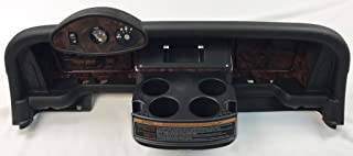 Simulated Dark Burled Woodgrain Full Golf Cart Dash to fit 2016 and up E-Z-Go RXV 2nd Generation Cart (Will NOT FIT 1ST Generation CART) Includes 3 Hole Gauge Trim Plate