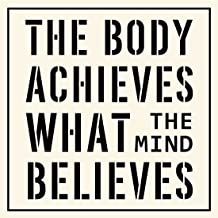 Inspirational Poster Print Art The Body Achieves What The Mind Believes Motivational Quotes Phrase Sign Modern Pop Wall Decor