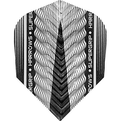 Harrows Supergrip X Dart Flights 100 Micron Standard 5 Sets 15 Silver