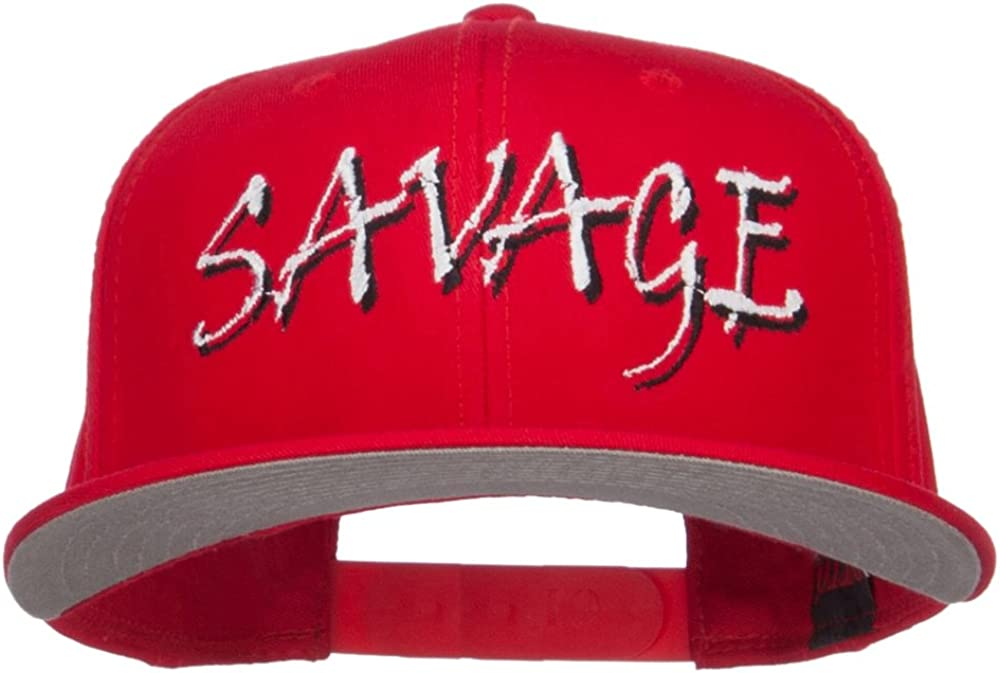 Special price for a limited time e4Hats.com Outstanding Savage Embroidered Cotton Snapback