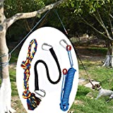 Viewm Outdoor Hanging Bungee Dog Toys Interactive Tether Tug of War Dog Toy for Pitbull Large Medium Small Dogs Durable Safe Chew Training Spring Rope Toy