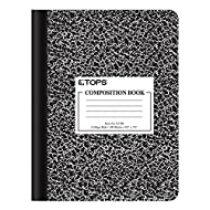 "Oxford Composition Notebook, College Ruled Paper, 9-3/4"" x 7-1/2"", Black Marble Covers, 100 Sheets, 1 Book (63796)"