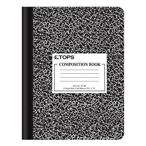 Oxford Composition Notebook, College Ruled Paper, 9-3/4