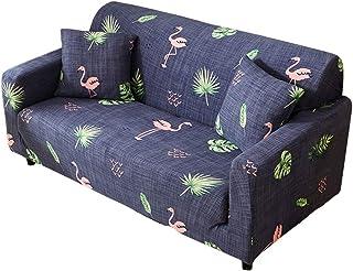 b0b0e97c2c5 Funda para sofá elástica, antideslizante, estampado de plumas y flores  moderno y simple,