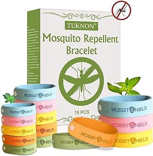TUKNON Repelentes de Mosquitos, Pulseras Antimosquitos, Pulseras Repelentes de Mosquitos, 15 Piez...