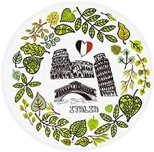 DIYthinker Colosseum Pisa Rialto Bridge Italy Anti-Slip Floor Pet Mat Round Bathroom Living Room Kitchen Door 80Cm Gift