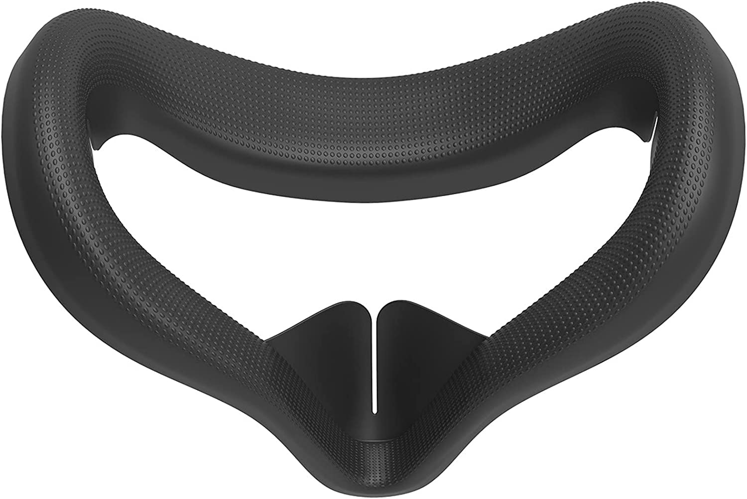 for Oculus Quest 2 VR Glasses Face Cover Eye Mask Cushion Facial Pad Soft Silicone Anti-Sweat Shading Protective Massage Bumps 2nd Generation Replaceable Accessories (Black)