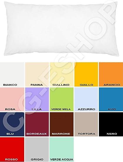 Confezioni Giuliana Federa Per Cuscino Da Una Piazza E Mezza 1 1 12 Mis 120x55 Colori Tinta Unita A Scelta Azzurro Amazon It Casa E Cucina