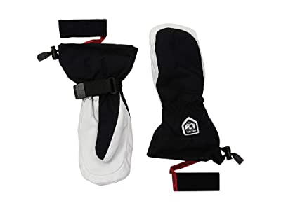 Hestra Heli Ski Mitt (Black/Off-White) Ski Gloves