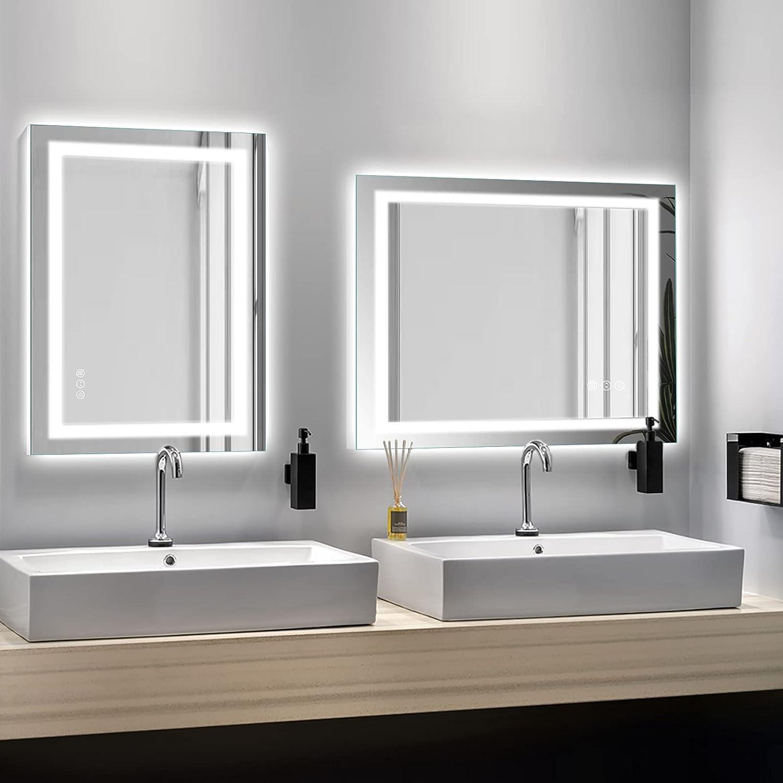 Buy Amorho Led Bathroom Mirror 20x20, Backlit and Front Lighting ...