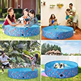 Toozey Dog Swimming Pool, Slip-Resistant Plastic Kiddie Pool, Portable PVC Foldable Dog Pool, Kiddie Pool for Dogs, Dog Pet Bath Pool for Small to Large Dogs