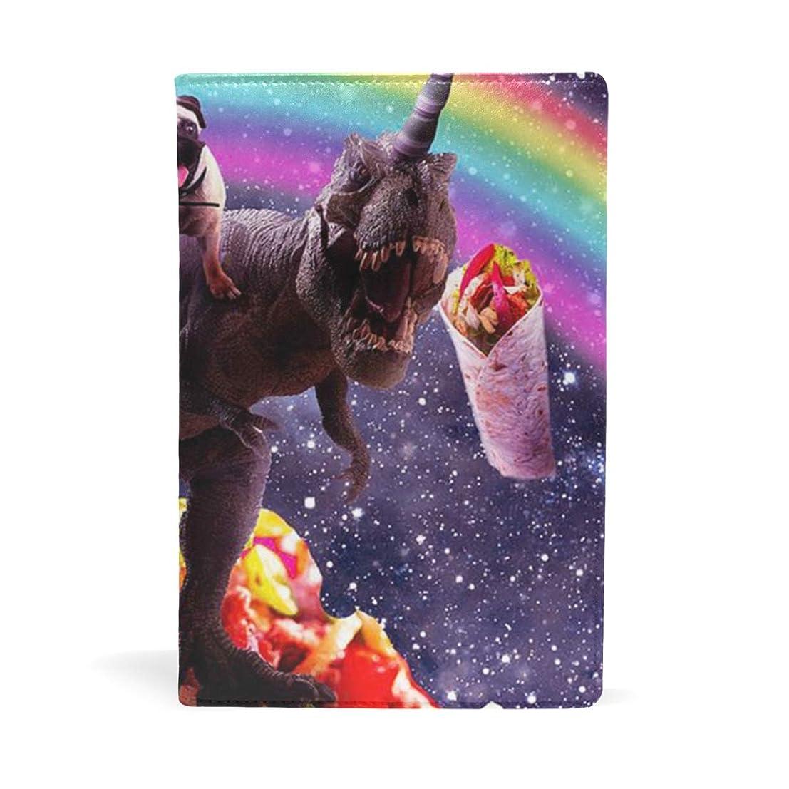 注ぎます建てるバナナパグ乗る恐竜 タコス ブックカバー 文庫 a5 皮革 おしゃれ 文庫本カバー 資料 収納入れ オフィス用品 読書 雑貨 プレゼント耐久性に優れ