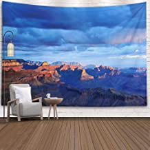 TOMWISH Wall Tapestry, Tapestries Decoration Hanging Wall Bedroom and Home Décor Dorm Desert at First Light 80X60 Inch Hanging Wall Tapestry,Peach Green