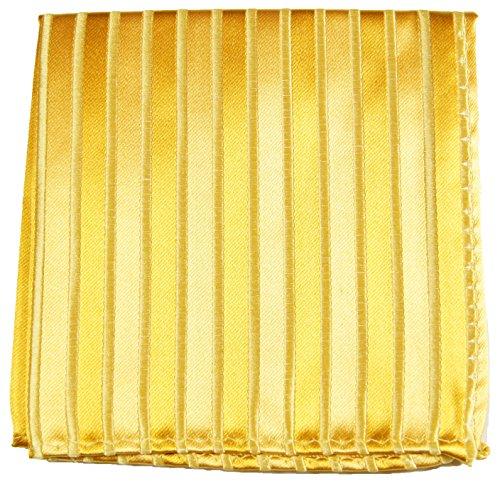 Paul Malone de carré de poche mouchoir 100% soie Or rayé