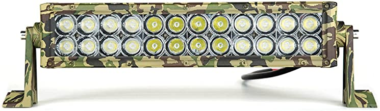 Army Camouflage LED Light Bar, L-MIND 14 Inch 72W Military Spot Flood Combo Led Bar Double Row Cree 2525 Chips Best Camo LED Driving Light Off Road Lights IP67 Waterproof for Buggy 4X4 ATV