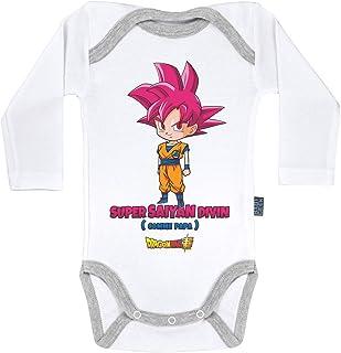 Dragon Ball Super /™ Goku et Goten Licence Officielle Body B/éb/é Manches Courtes Parent Baby Geek Saiyan de p/ère en Fils