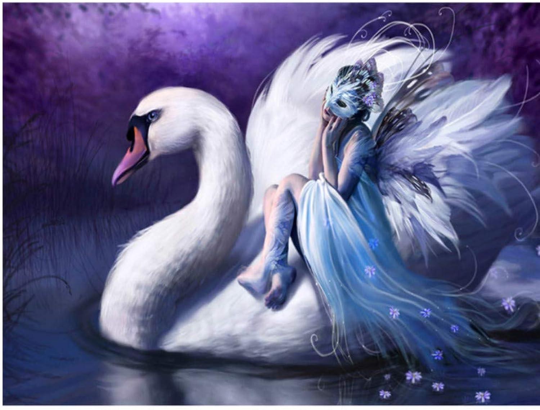 Venta Al Por Mayor Barato Xigzi Blancoo Cisne 5d Diy Pintura