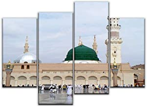 4 Panel Canvas Pictures madinah hajjs and pictures Home Decor Gifts Canvas Wall Art for your Living Room
