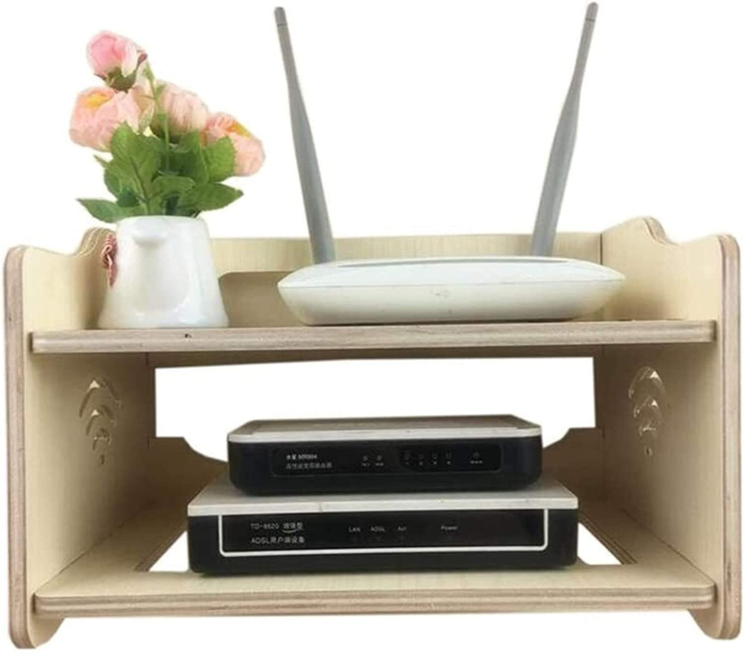 BECCYYLY Nashville-Davidson Mall Router Rack Shelves Multi-Function WiFi Storage Max 89% OFF