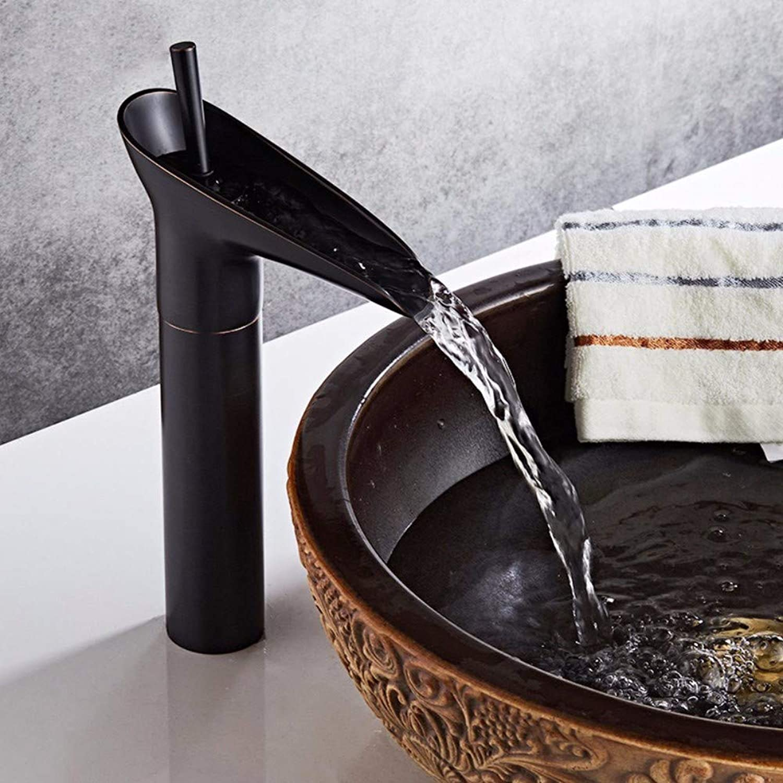 Faucet Single Cold Copper Antique Faucet Above Counter Basin Bathroom Retro Bathroom Basin hot and Cold Faucet Chrome,Black