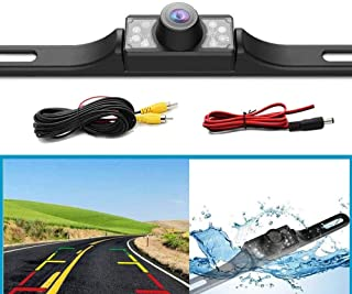 Universal Vehicle Backup Camera, 170°Perfect View Angle 8 LED Lights Night Vision Waterproof for Car Trucks SUV RV Pickup