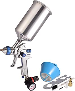 1 Quart HVLP Air Spray Gun Auto Car Detail Paint Sprayer, 2.5mm Nozzle, with Filter and Air Regulator