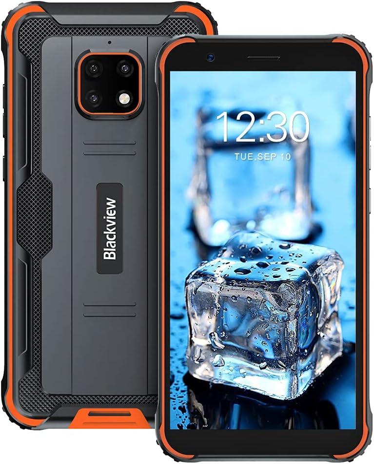 Móvil Resistente, Blackview BV4900 Pro 4G IP68 Impermeable Smartphone 4+64GB Octa-Core 5580 mAh 5,7
