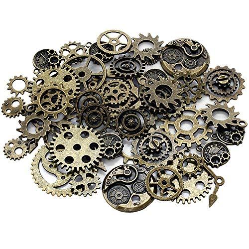 Engranajes Retro Rueda Esqueleto Aleación Accesorio de Manualidades para Hacer Joyas Artesanía Steampunk Accesorios de Reloj Retro Gear Accesorios Decorativos 50g