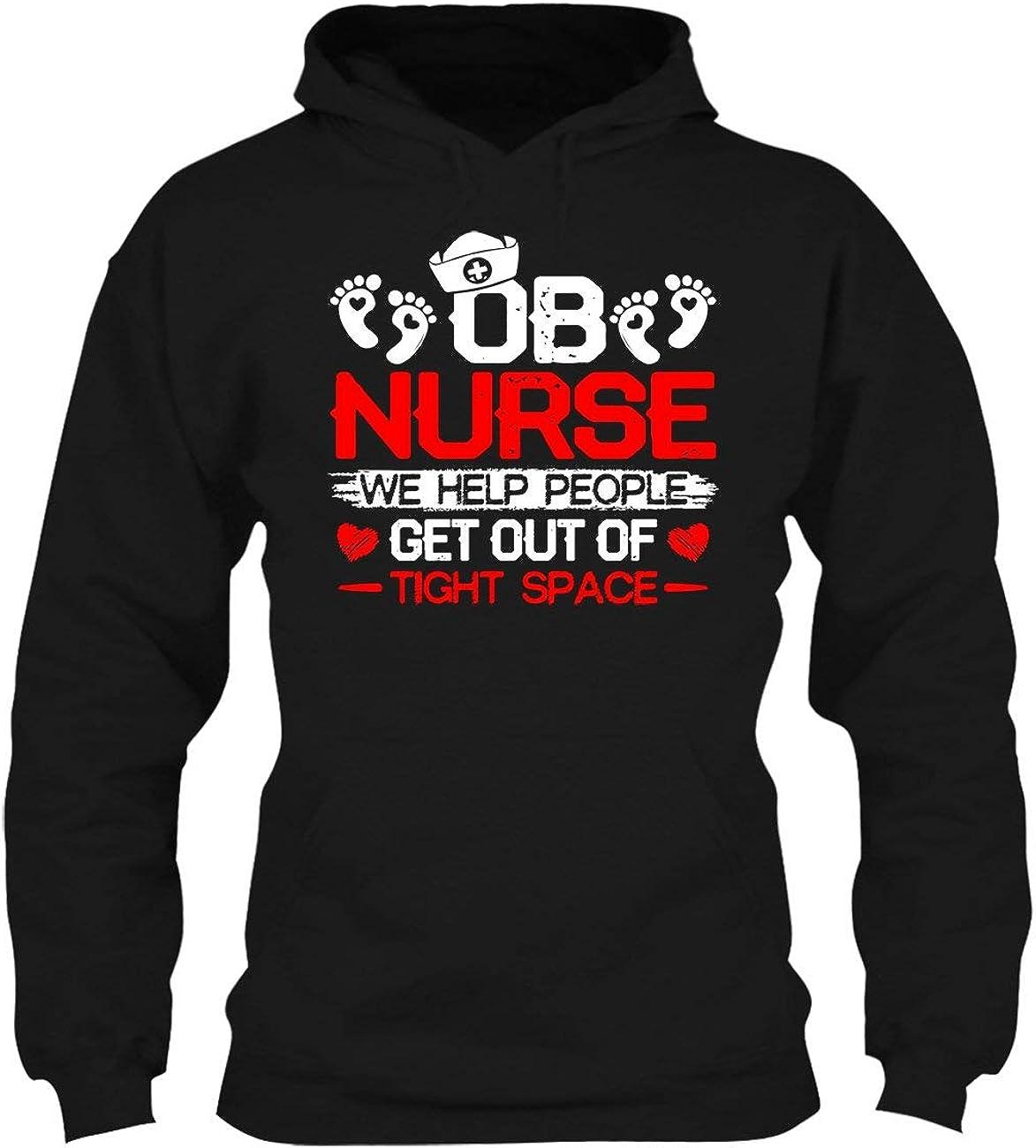 Proud OB Bargain Nurse Dallas Mall Tee Sleeve Long Cool Shirt