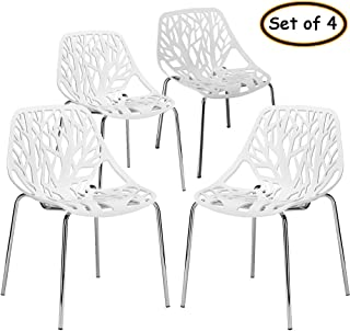 Bonnlo Modern Stackable Chair Set of 4 Kitchen Dining...