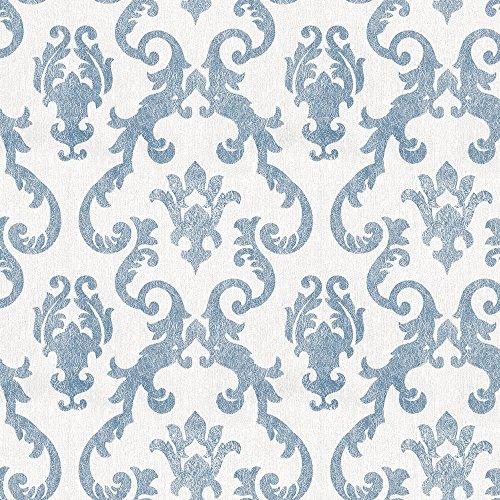 Papel de Parede Vinílico, Arabesco, Azul, 1000x52 cm, Bobinex Uau