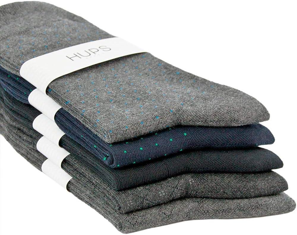 HUPS Mens Dress Max 58% OFF Socks 5 ☆ popular Classic Comfort Jacquard 5-pack with