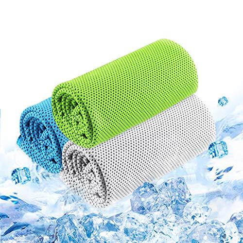 3枚セット 冷却タオル 瞬冷タイプ 熱中症対策 速乾 軽量 吸水性抜群 抗菌防臭 ひんやり感 UVカット アウト...
