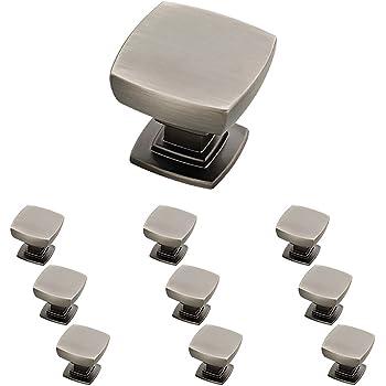 Franklin Brass P29542K-904-B Parow Kitchen Cabinet Hardware Knob, 10-Pack, Heirloom Silver