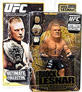 Round 5 UFC Ultimate Collector Series 4 CHAMPIONSHIP EDITION Action Figure Brock Lesnar with Belt! UFC 91