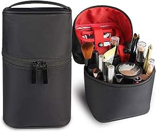 Makeup Bag Travel Cosmetic Bag Small Makeup Brush Holder Organizer Cute Portable Artist Toiletry Storage Bag Cosmetics Case for Women Girls,Black