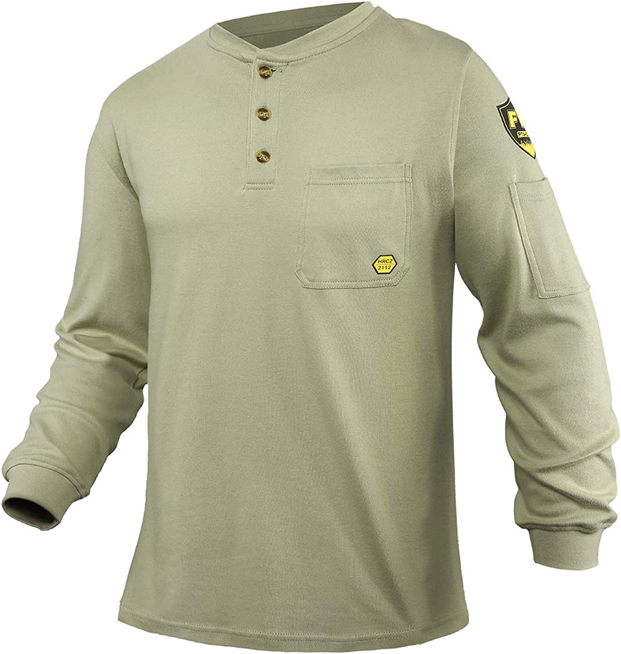 OFFicial site PTAHDUS FR Shirts OFFicial mail order Men's Flame Resistant Sleeve Long Henley