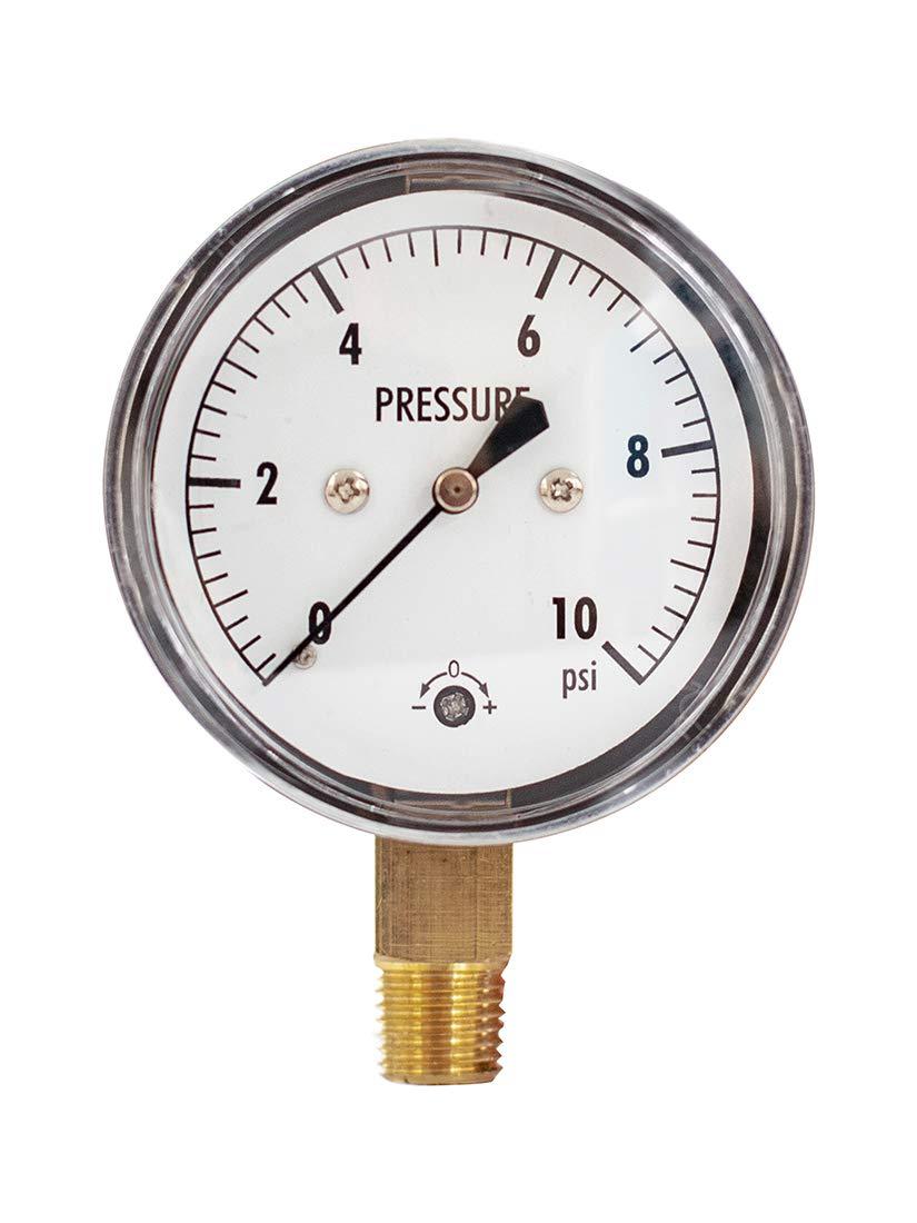 Low Capsule Pressure Gauge 0-10 psi Max 70% OFF 2-1 lower 1 NPT Dial 4