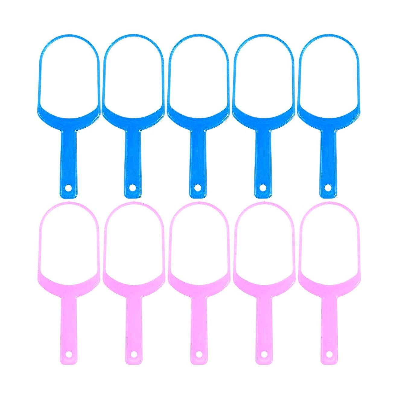 怠な誇張旅行Healifty 舌スクレーパークリーナー舌クリーナーリムーバー10個(5 *ピンク+ 5 *ブルー)