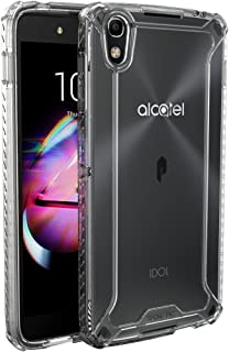 ALCATEL OneTouch Idol 4 Case, POETIC Affinity Series Premium Thin/No Bulk/Slim fit/Clear/Dual Material Protective Bumper Case for ALCATEL OneTouch Idol 4 (2016) Clear/Clear