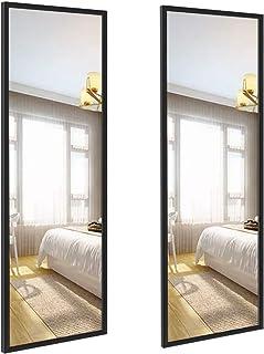Amazon Brand - Eono Lot de 2Miroirs Muraux Rectangulaires, Miroirs Muraux au Grand Format 36x122cm pour Salle de Bain,...