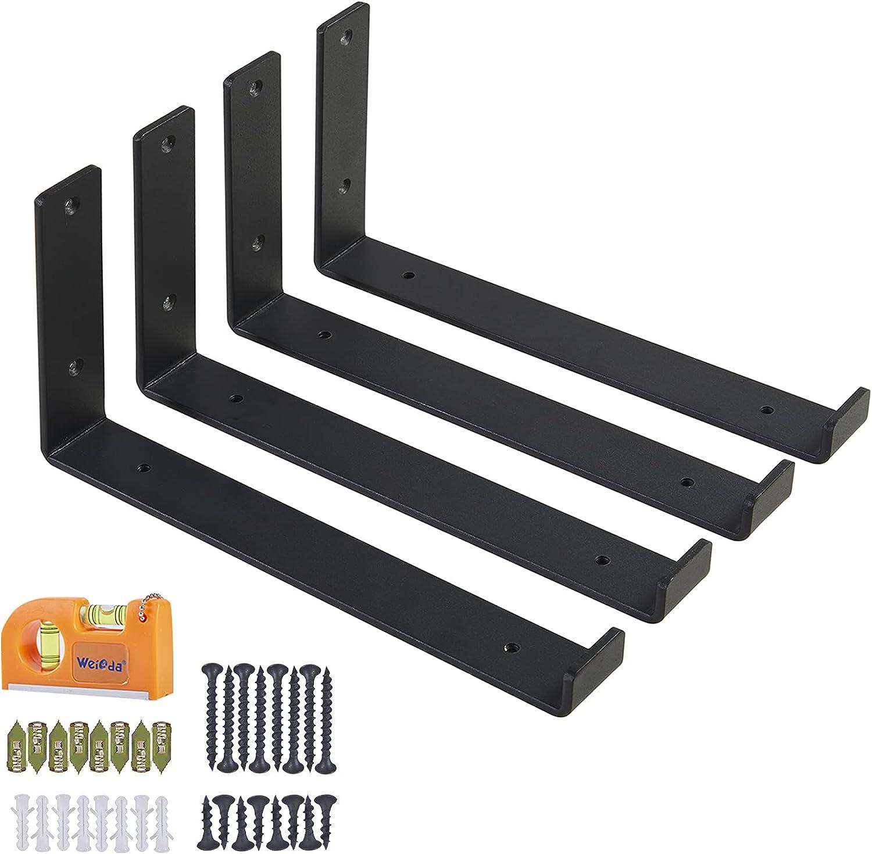 1 year warranty Shelf Brackets Metal Black Gorgeous Duty Lip Heavy with