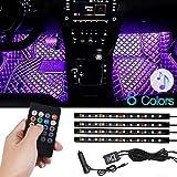 Auto LED Innenbeleuchtung, 72 LED Auto Strip Beleuchtung mit Fernbedienung, Wasserdicht Auto...