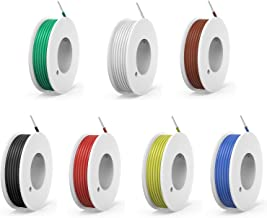 20awg Solid Wire kit Electrical Wire Cable 7 Colors 23ft Each spools 20 Gauge UL1007 Tinned Copper Hook up Wire kit breadb...