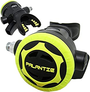Scuba Choice Scuba Diving Palantic AS206 Black/Yellow Second Stage Regulator Octopus