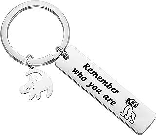 ENSIANTH Lion King Inspired Gift Im Working on My Roar Keychain Simba Lion King Keychain Animal Kingdom
