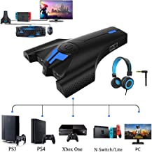 $30 » Keyboard and Mouse Adapter Converter for Xbox One PS4 PS3 Nintendo Switch & Lite PC with Upgraded 3.5mm Headphone Jack Support in-Game Voice, Button customization with Reset button