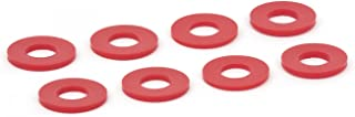 Daystar, Red D-Ring Shackle Washers Set Of 8, Red, protect your bumper and reduce rattling, KU71074RE, Made in America