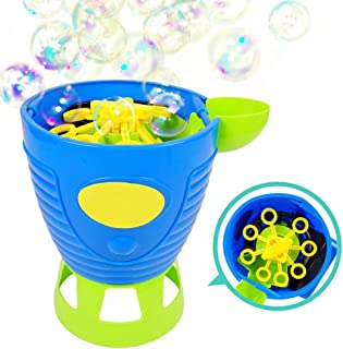 Hamkaw Bubble Machine, Automatic Bubble Blower Durable Maker for Kids, 1000 Bubbles Per Minute Girl and Boy, Simple and Ea...